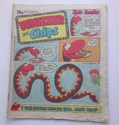 Whizzer and Chips 31 January 1987 Childrens Kids Humour Humor Comic UK *