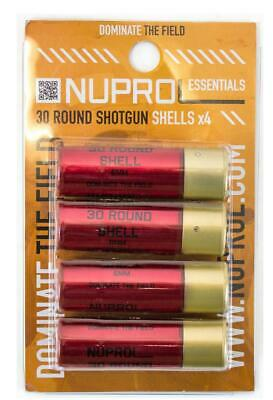 Nuprol Airsoft Shotgun Shell 4 Pack 30rd Tri Shot For 6mm bb's