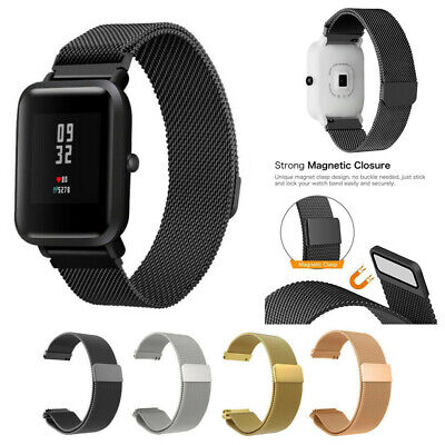 Magnetic Stainless Steel Bracelet Watch Strap For Xiaomi Amazfit Bip Youth Watch