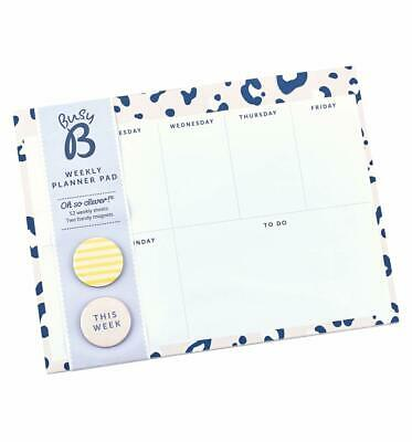 Busy B Safari Nights Weekly Planner Pad With Tear Off Sheets - Weekly Planner