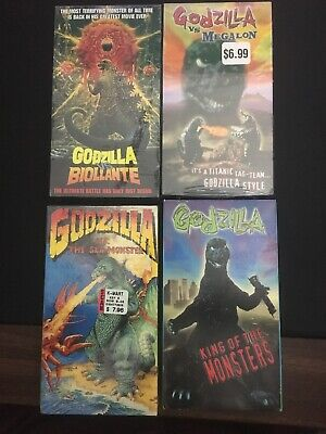 Godzilla VHS lot of 4 (3 SEALED) Biollante Megalon The Sea Monster King Sci Fi