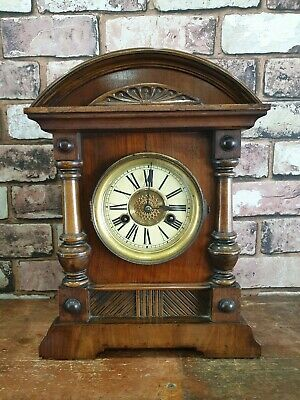 Vintage German Hac 14 Day Strike Mantle Clock