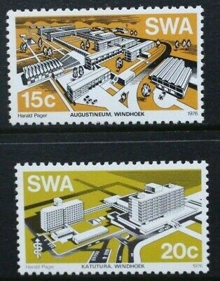SOUTH WEST AFRICA SWA 1976 Architecture Modern Buildings. Set of 2 MNH SG293/294