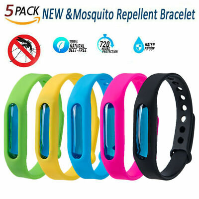 5pcs Anti Mosquito Bands Insect Essential Oil Bug Repellent Bracelet Repeller