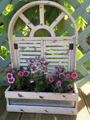 French Vintage Style Wooden Wall Garden Planter Shabby Chic Herbs Window Box