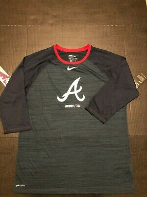 the best attitude 583f4 5061e NIKE DRI-FIT ATLANTA Braves Authentic Collection Shirt size ...
