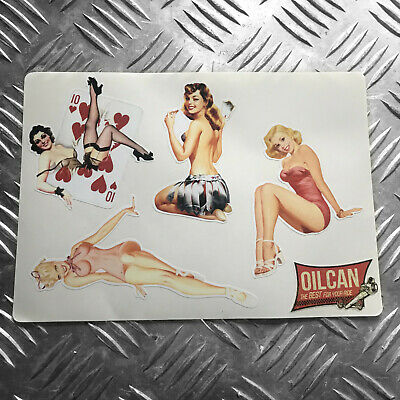 Pinup girls retro vintage sticker set - hotrod - vw pin ups