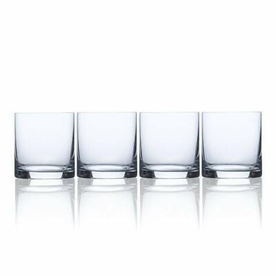 Mikasa Julie Double Old Fashioned Drinking Glass (Set of 4), 15 oz, Clear