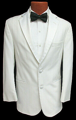 Men/'s Chaps Black Tuxedo Jacket with Grosgrain Satin Notch Lapels Wedding Mason