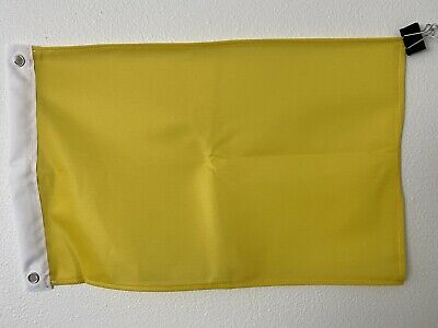 """12/""""x18/"""" Yellow Solid Color Super Polyester Flag-On Sale!9 Yellow"""