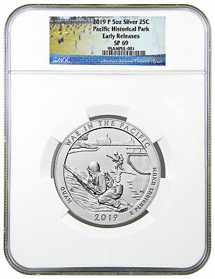 2019P 25C War in Pacific 5 oz Silver ATB Beautiful Specimen NGC SP69 ER SKU58237