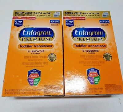 LOT OF 2 Enfagrow PREMIUM Non-GMO Toddler Transitions Formula Powder Refill Box
