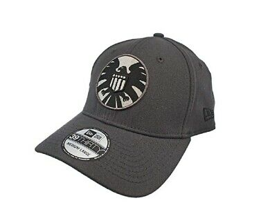 huge discount 0c682 f0b5c Shield Graphite Marvel Comics New Era 39Thirty Fitted Hat - Large Xlarge