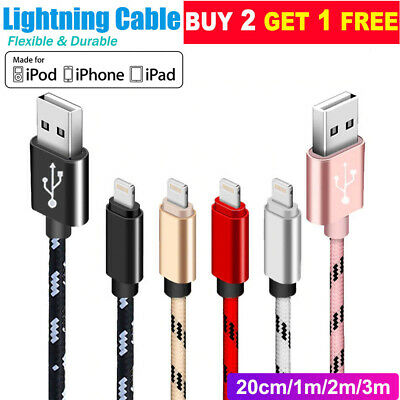 0.25M 1M 2M USB Lightning Charger Cable Cord Data for Apple iPhone iPad iPod Air