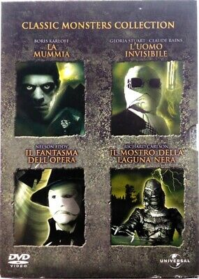 DVD Classic Monsters Collection - Caja Slipcase 4 Discos Usado