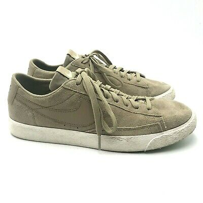 5843e6f8ec0a4 Nike Blazer Low Khaki Fresh Mint 371760 208 Casual Skate Shoes Mens Size 9 M