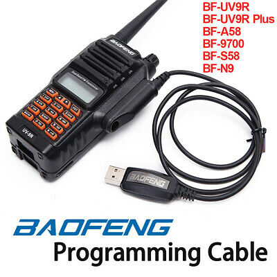 USB Programming Cable CD Software For BAOFENG BF-UV9R BF-UV9R Plus BF-A58 BF-N9