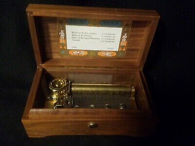 VINTAGE RARE WORKING Reuge Anniversary Waltz Music Box Made