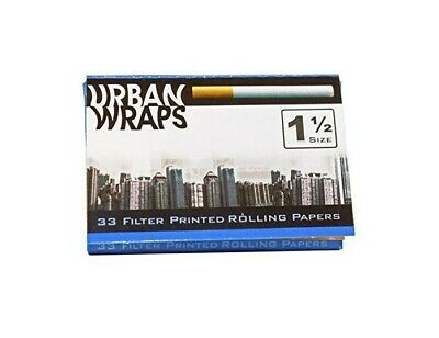 1 Pack Urban Wraps Filter Appearance Printed 1 1/2 Rolling Papers 33 Per Pack