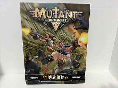 Mutant Chronicles Roleplaying Game RPG Book Techno Fantasy Modiphius 3rd Edition