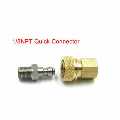 1/8 NPT Quick Release Connecter Adapter Female Male Paintball Disconnect Coupler
