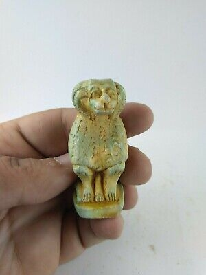 RARE ANCIENT EGYPTIAN ANTIQUE BABOON Amulet 1125-900 BC
