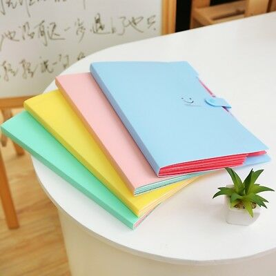 1*Stationery File Folder 5 Layers A4 Document Bag Office Supplies Documents #AM8