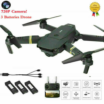 Drone X Pro Foldable Quadcopter WIFI FPV 720P HD Camera 3Extra Batteries#GD