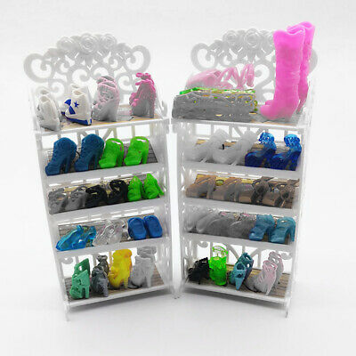Dollhouse Miniature Furniture Plastic Shoe Cabinet for Children Playing House#GD