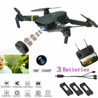 Drone X Pro Foldable Quadcopter WIFI FPV with 1080P Camera 4 Extra Batteries #GD
