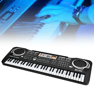 61 Keys Digital Music Electronic Keyboard Electric Piano Organ with Microphone#D