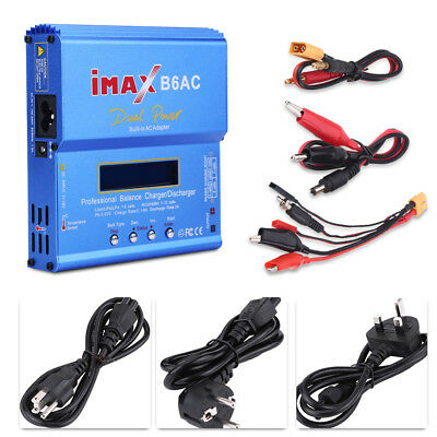 80W MAX B6AC Digital Battery Balance Charger for Nimh Nicd Lipo RC Accessory#GD