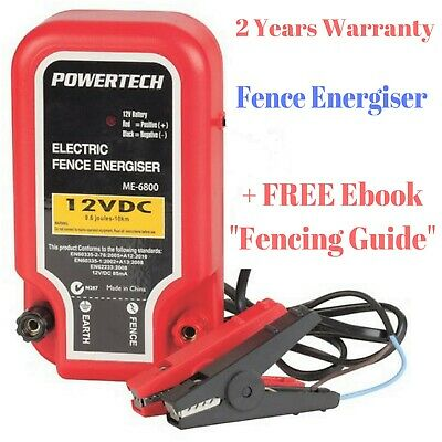 New Electric Fence Energizer Safe Barrier For Animals With Wire Power
