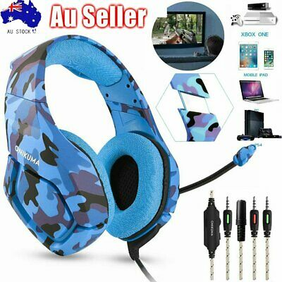 3.5Mm Gaming Headset K1 Mic Headphone Stereo For Pc Laptop Ps4 Slim Xbox One 360