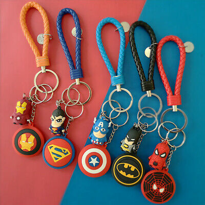 Marvel Avengers Key Chain Stormbreaker Iron Men Spider Thanos Keyring Keychain