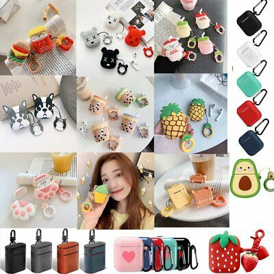 Cute Cartoon Silicone Shockproof leather Cover For Apple AirPods Charging Case