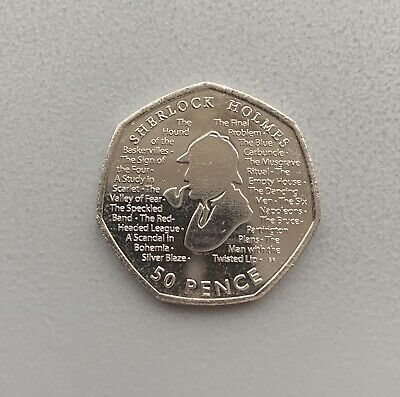 Sherlock Holmes - 50p Fifty Pence coin 2019 - Uncirculated - Free Postage
