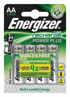 Energizer Accu Recharge Power Plus AA Batteries 2000mAh Pre-charged 4 Pack