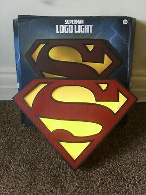Official Licenced Dc Comics Wall Mounted Superman Logo Light With Box