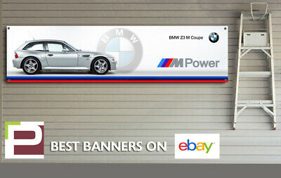 BMW Z3 M Coupe SILVER Banner for Workshop, Garage, Man Cave, M Sport, M Power