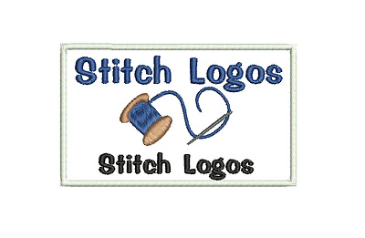 Embroidered Personalised Custom Badge Company Name Patch 10x6cm Logo iron sew on