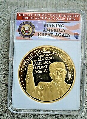 2018 Proof Donald Trump Commemorative Coin - Archival Collection
