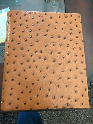 Vintage Brown Tan Ostrich Leather Address Book Cover
