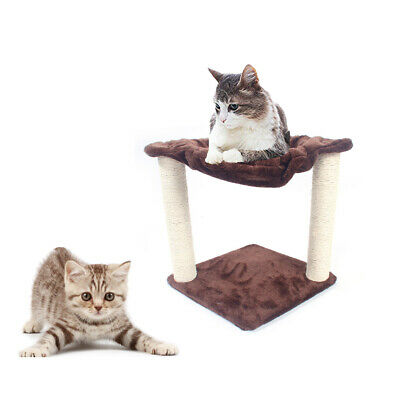 """16"""" Cat Tree Tower Condo Furniture Scratching Post Pet Kitty Play House Brown"""