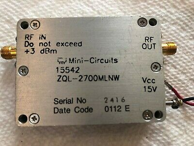 Mini-Circuits ZQL-2700MLNW Low Noise Amplifier, 2.2 to 2.7 GHz
