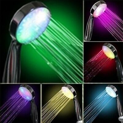 Romantic 7 Color LED Glow Light Water Bath Home Bathroom Shower Head Handheld