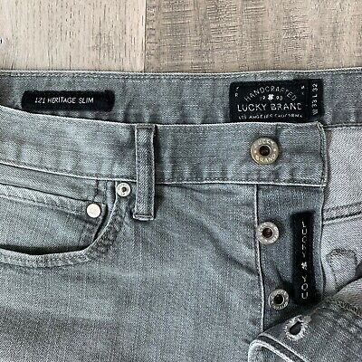 33c4eb60 VINTAGE LUCKY BRAND Legend 121 heritage slim brown jeans 33X33 mens ...