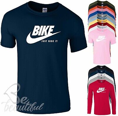 BIKE JUST RIDE IT T SHIRT NIKE PARODY MENS KidS BOYS GIRLS ADULTS TopS TEE
