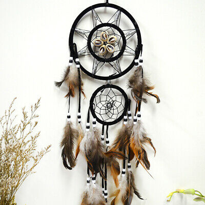 Dream Catcher With Feathers Car Hanging Wall Decoration Circle Ornament Gifts