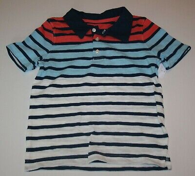 New Carter's Boys Top 4T Polo Dress Shirt Red White Blue July 4th Handsome